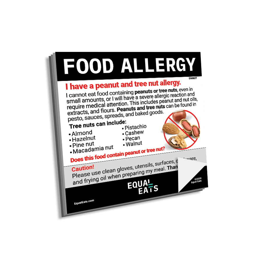 Peanut & Tree Nut Allergy Sticky Notes