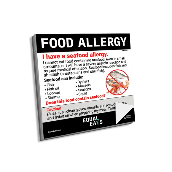 Seafood Allergy Sticky Notes