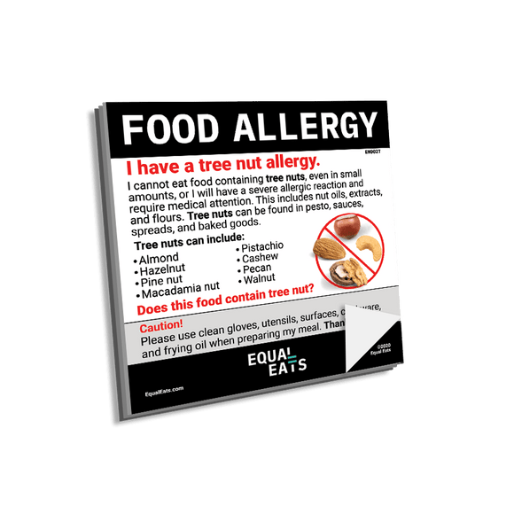 Tree Nut Allergy Sticky Notes