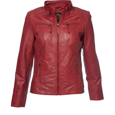 MOLLTAN SKINDJAKKE, DARK RED