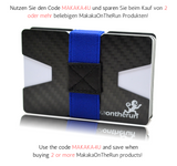 "3K Carbon Slim Wallet ultra-dünn ""PREMIUM"" & Visitenkarten-Etui (1€ gespendet für Kinder in Not) - Makaka On The Run"