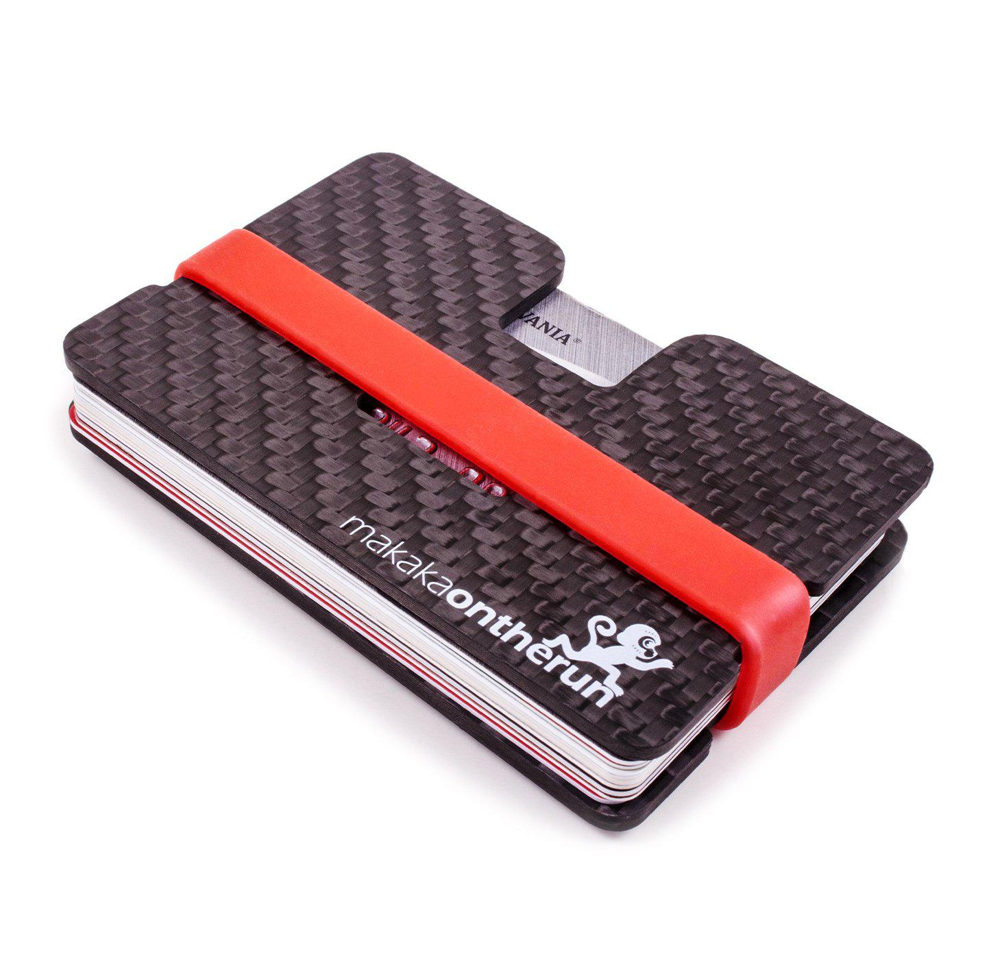 Carbon Slim Wallet | RFID-Blocking | Eingefrästes Münzfach - MakakaOnTheRun RFID NFC Blocker & Anti Spy Produkte