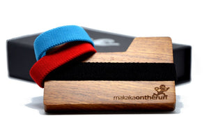 MakakaOnTheRun® Wood Slim Wallet | Rosen-Holz | Jedes Stück ein Unikat - Makaka On The Run