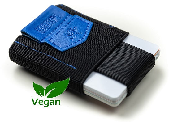 "Slim Wallet ""Pull-Tab"" VeganBlue