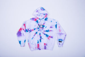 do good in silence.® tie dye hoodie