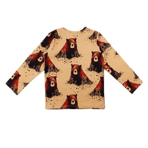 Walkiddy - Long Sleeve Tshirt - Grizzly Bear