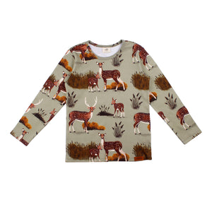 Walkiddy - Long Sleeve Tshirt - Deer Family