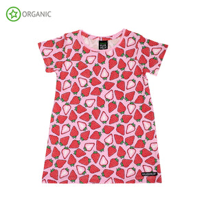Villervalla - Short Sleeve Dress - Strawberry