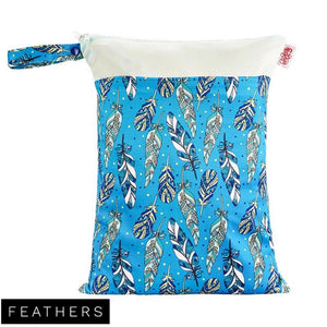 Red Rags - Medium Double Pocket Wetbag - Feather