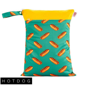 Red Rags - Medium Double Pocket Wetbag - Hotdog