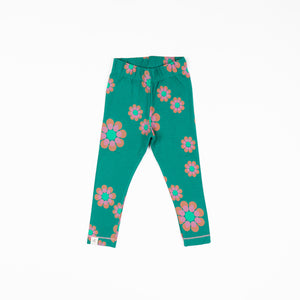Alba baby - Haniella Leggings - Alpine Green Flower Power Love