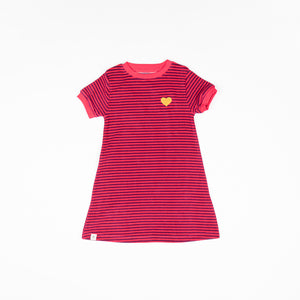Alba baby - Vida Dress - Raspberry Magic Stripes