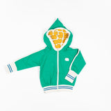 Alba baby - Robin Zipper Hoodie - Pepper Green