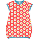 MAXOMORRA - DRESS BALLOON SS - DAISY