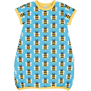 MAXOMORRA - DRESS BALLOON SS - HUMBLE BUMBLE BEE