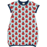 MAXOMORRA - DRESS BALLOON SS - LAZY LADYBUG