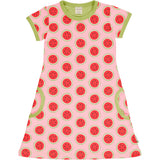 MAXOMORRA - DRESS SS - WATERMELON