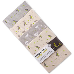 4 Pack Compostable Sponge Cleaning Cloths - Wildlife Rescue