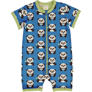 Maxomorra - Short Sleeve Romper - Playful Panda