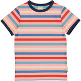 Maxomorra - Short Sleeve Top - Stripe Blossom