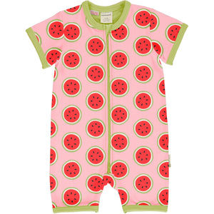 MAXOMORRA - ROMPERSUIT SS - WATERMELON