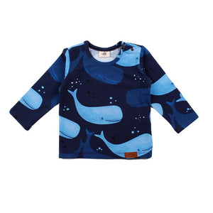 Walkiddy - Long Sleeve Tshirt - Smiling Whales
