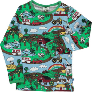 Smafolk - Long Sleeve Tshirt - Landscape Air Blue