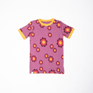 ALBA - AIA - Vigga Tshirt - Bordeaux Flower Power