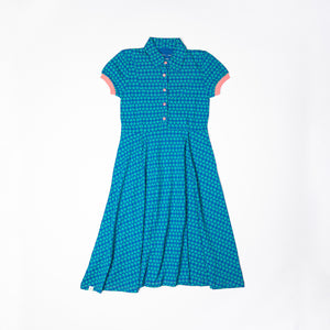ALBA - AIA - A Vintage Day Dress Snorkel Blue Flower Heart