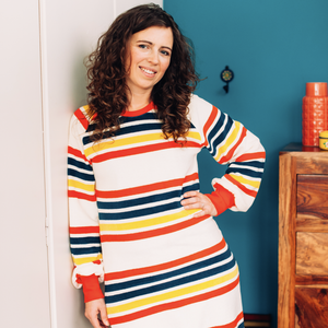 Alba - All I Adore - For a cosy day dress - Multi Magic Stripes
