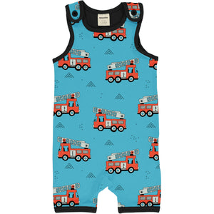Meyadey - Playsuit Short -Fire Trucks