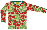 DUNS - Long Sleeve Top - Growing Tomatoes Pale Yellow