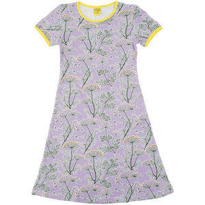 DUNS - Short Sleeve Dress - Dill Violet