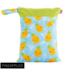 Red Rags - Medium Double Pocket Wetbag - Pineapple