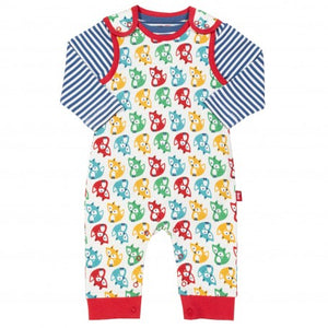 Kite - Dungarees - Rainbow Fox Set