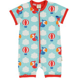 Maxomorra - Rompersuit Short Sleeve - Parrot Safari