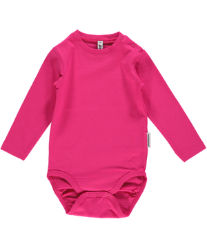 Maxomorra - Long Sleeve Bodysuit - Cerise