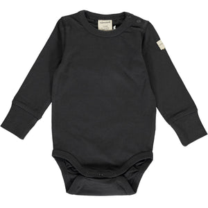 Maxomorra - Long Sleeve Bodysuit Solid - Graphite