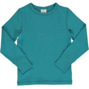 Maxomorra - Long Sleeve Solid Top - Arctic Blue