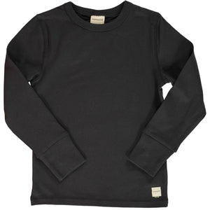 Maxomorra - Long Sleeve Solid Top - Graphite