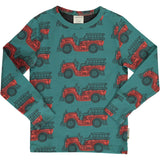 Maxomorra - Long Sleeve Top - Vintage Fire Truck