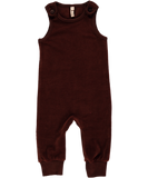 Maxomorra - Velour Dungarees - Dark Brown