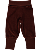 Maxomorra - Velour Rib Pants - Dark Brown