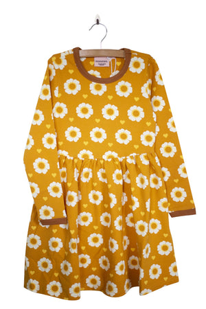 Moromini - Long Sleeve Twirly Dress - 70's Flower
