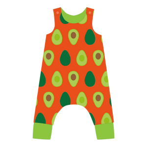 Pikolo - Lined Dungarees - Avocado