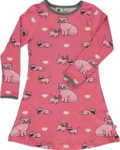 Smafolk - Long Sleeve Dress - Cats Rapture Rose