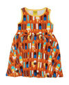DUNS - Sleeveless Dress with Gather Skirt - Ice Cream Pumpkin