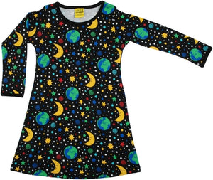 DUNS - Long Sleeve A Line Dress - Mother Earth Black