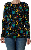 DUNS - ADULT Long Sleeve Top - Mother Earth Black