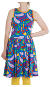 DUNS - ADULT Sleeveless Dress with Gather Skirt - Cultivate Blue